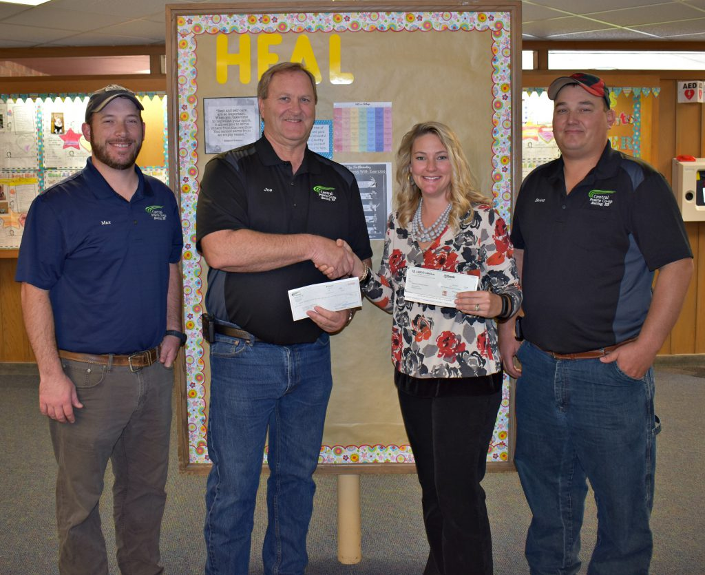 L to R: CPC Operations Manager Max Mobley, CPC General Manager Joe Schauf, Nickerson Elementary HEAL Coordinator Amber Rohling, and CPC Board Member Brett Engelland
